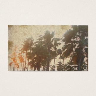 Travel,Palm Tree, Yoga,Retreat,Life Coach, Business Card