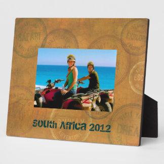 Travel Passport Stamps Custom Frame Plaque
