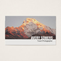 Travel Photographer Add a Photo Photography Business Card