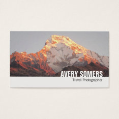 Travel Photographer Add A Photo Photography Business Card at Zazzle