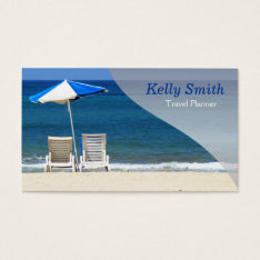 Travel Planner Agency Business Card at Zazzle