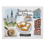 Travel Poster: Beignets in New Orleans
