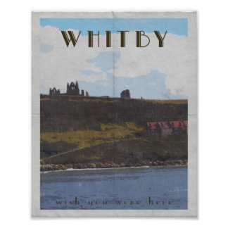 travel poster east coast whitby yorkshire