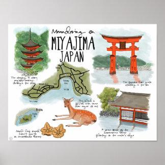Travel Poster: Meandering on Miyajima Japan