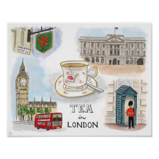 Travel Poster: Tea in London England