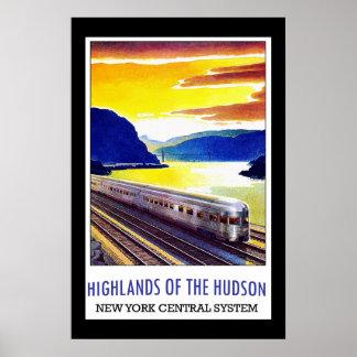 Travel Poster Vintage Hudson New York
