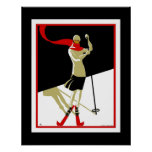 Travel Poster Vintage Saint Croix Skiing 3 Poster