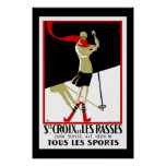 Travel Poster Vintage Saint Croix Skiing Posters
