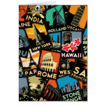 Travel posters retro vintage europe asia usa card