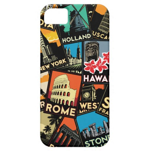 Travel posters retro vintage europe asia usa iPhone 5 covers