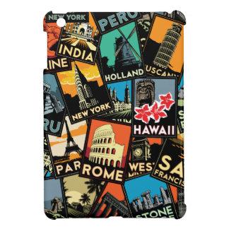 travel posters retro vintage europe asia usa iPad mini cover