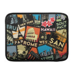 Travel posters retro vintage europe asia usa MacBook sleeves