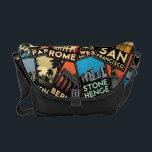 """Travel posters retro vintage europe asia usa messenger bag<br><div class=""""desc""""></div>"""