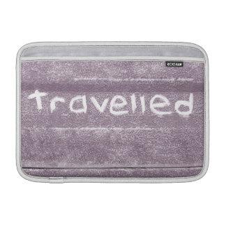 Travel purple travelled rustic bohemian MacBook sleeve