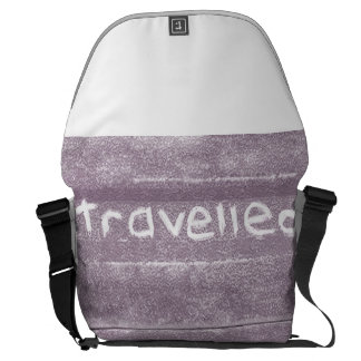 Travel purple travelled rustic bohemian messenger bag