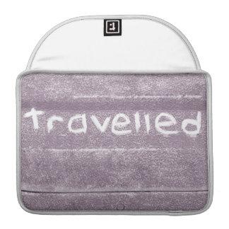 Travel purple travelled rustic bohemian sleeve for MacBook pro