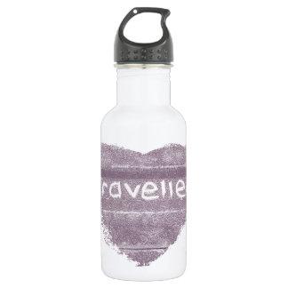 Travel purple travelled rustic bohemian stainless steel water bottle
