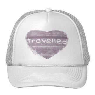 Travel purple travelled rustic bohemian trucker hat