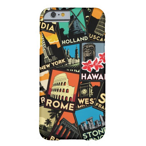 Travel retro vintage europe asia usa barely there iPhone 6 case