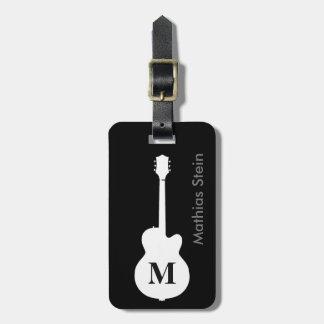 travel rock guitar music personalised bag tags
