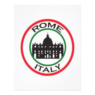 TRAVEL ROME ITALY CUSTOM LETTERHEAD