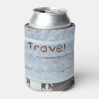 Travel rustic blue bohemian can cooler