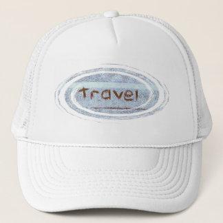 Travel rustic blue bohemian trucker hat