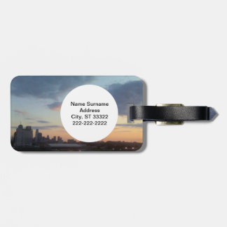 Travel Scenes Luggage Tag with Quote