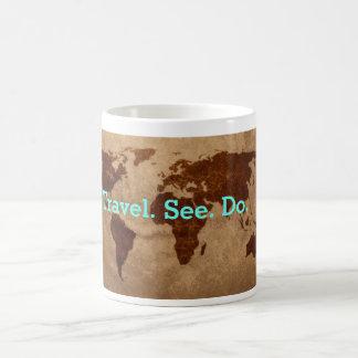Travel See Do World map mug