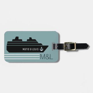 travel ship cruising personalized bag tag