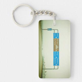 Travel Sign Keychain