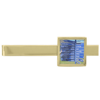 Travel Signs Tie Bar