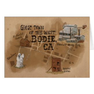 Travel Sketch Notecard: Ghost Town of Bodie CA Card