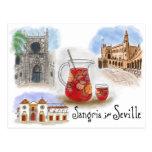 Travel Sketch Postcard: Sangria in Seville Spain
