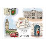 Travel Sketch Postcard: Tea in London England