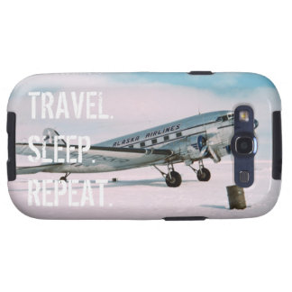 Travel sleep repeat vintage airplane wanderlust galaxy s3 cover