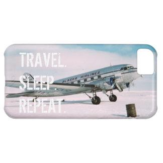 Travel sleep repeat vintage airplane wanderlust cover for iPhone 5C