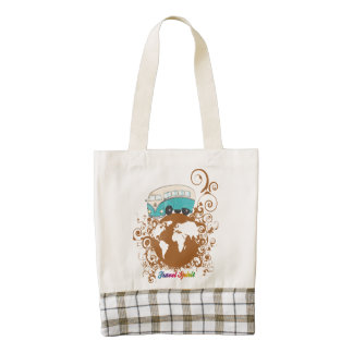 Travel Spirit Zazzle HEART Tote Bag
