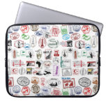 Travel Stamps Pattern Case Sleeve Laptop Computer Sleeves