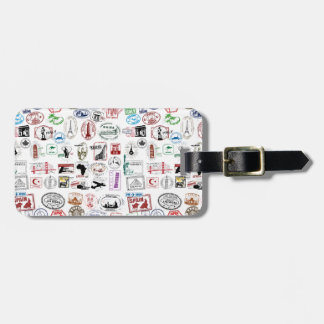 Travel Stamps Pattern Travel Bag Tags