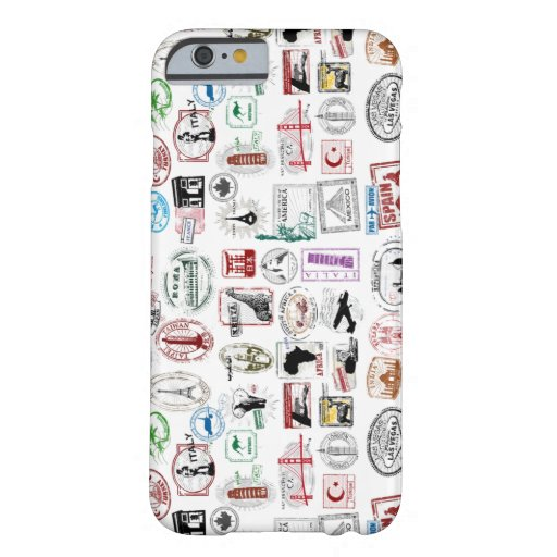 Travel Stamps Pattern Phone Case iPhone 6 Case
