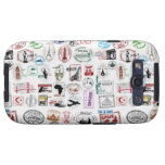 Travel Stamps Pattern Phone Case Samsung Galaxy S3 Case