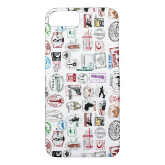 Travel Stamps Pattern Phone Case