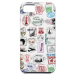 Travel Stamps Pattern Phone Case iPhone 5 Case