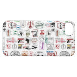 Travel Stamps Pattern Phone Case iPhone 5 Covers