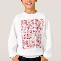Travel Stamps Pattern Sweatshirt