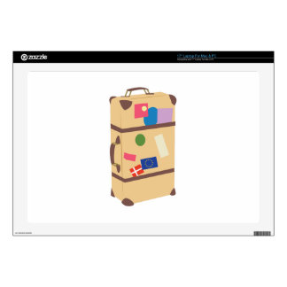 """Travel Suitcase Decal For 17"""" Laptop"""