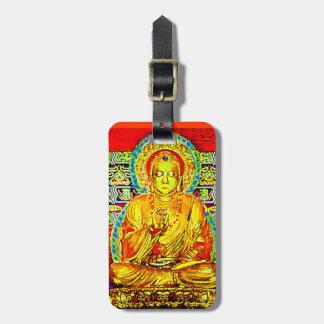TRAVEL TAG-COLORFUL GOLDEN  BUDDHA LUGGAGE TAG