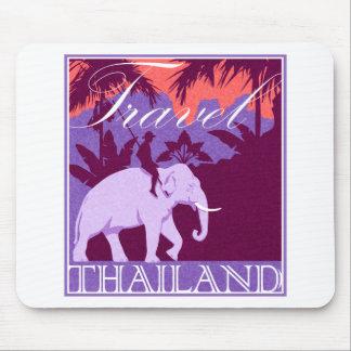 Travel Thailand white elephant Mouse Pad