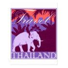 Travel Thailand white elephant Postcard